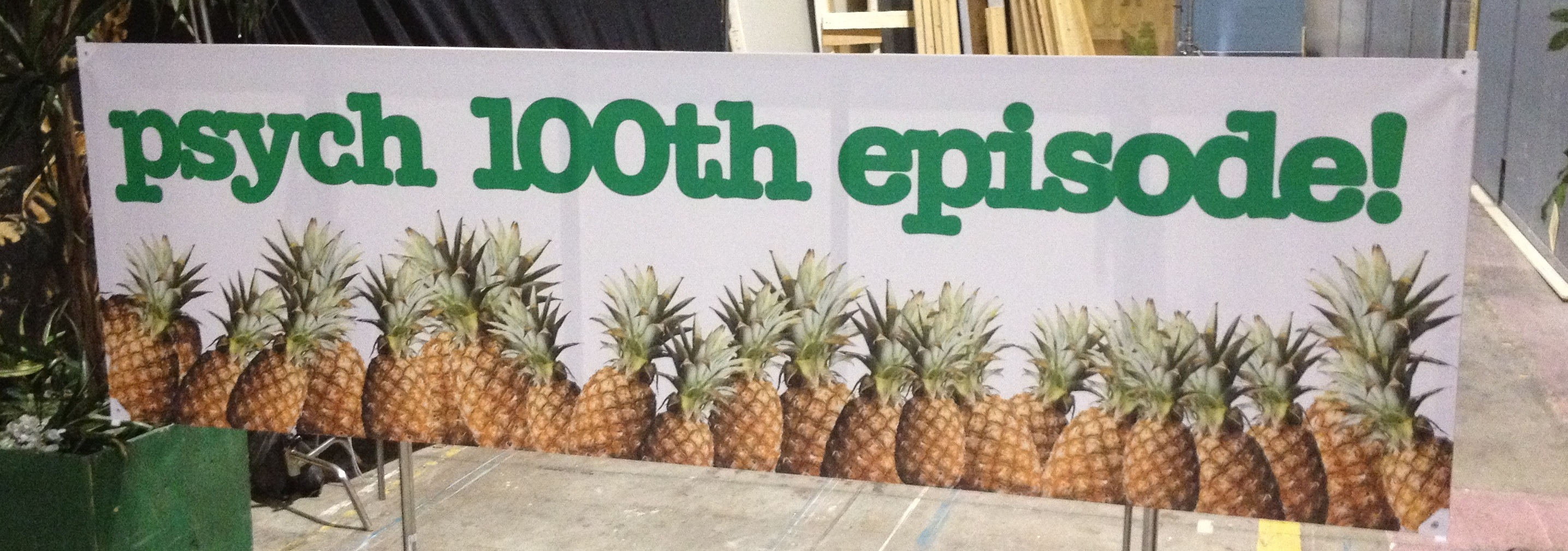 Psych 100th Episode Banner