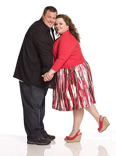 Billy Gardell and Melissa McCarthey