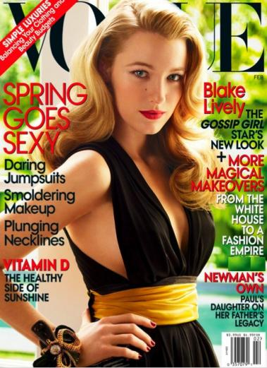 Click to enlarge more Blake Lively pictures from the Vogue photo shoot below