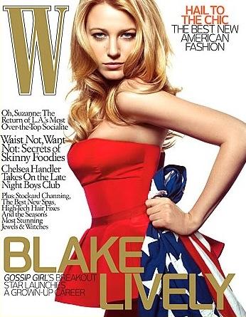 Blake Lively W Magazine Cover Tv Fanatic