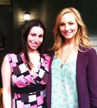 Candice Accola Set Shot