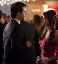 Damon and Elena at the Prom
