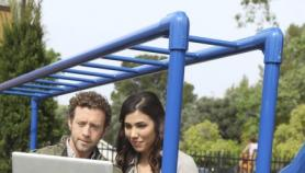 Hodgins and Angela at the Playground