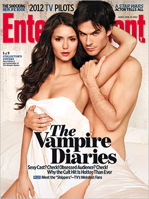 Ian Somerhalder and Nina Dobrev Entertainment Weekly Cover