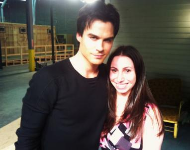 Ian Somerhalder on Set