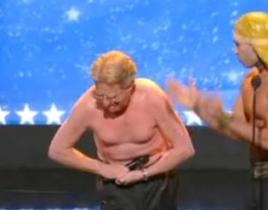 Jerry Springer Goes Topless on America's Got Talent