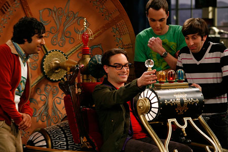 Big Bang Theory Sheldon postulates that if he invents a time machine,
