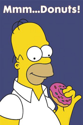 Homer simpson eating doughnuts
