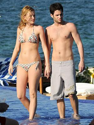 blake lively and penn badgley recent. Blake Lively and Penn Badgley