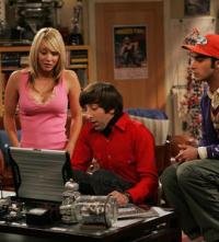 Penny with Raj and Wolowitz
