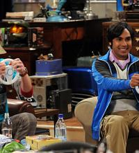 Raj and Sheldon Race