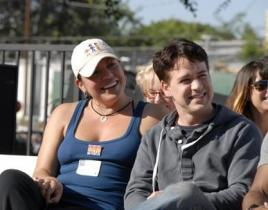 T.R. Knight, Sara Ramirez Walk For Charity