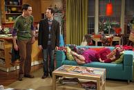 Sheldon and Stuart Put Penny to Sleep