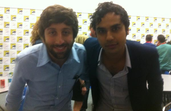 Simon Helberg and Kunal Nayyar at Comic Con