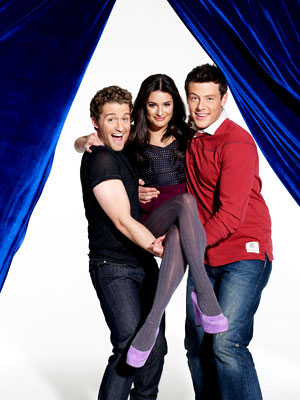 Three of Glee#39;s stars pose