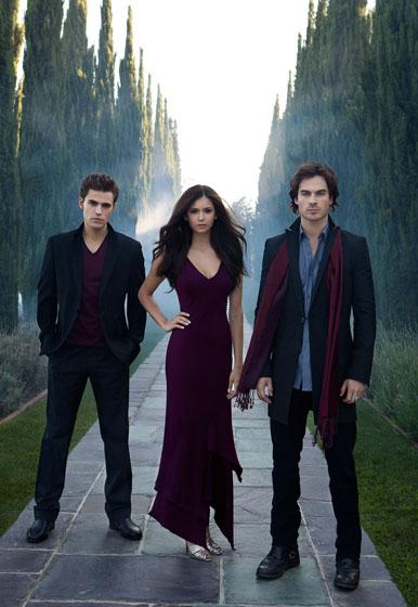 Stefan, Elena y Damon