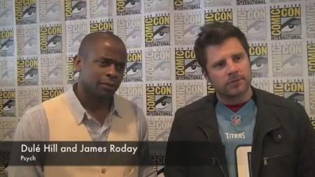 Dule Hill and James Roday at Comic-Con