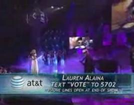 Lauren Alaina on American Idol Finale